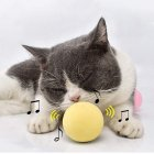 Interactive Cat Toys Smart Touch Sound Ball Catnip Pet  Training  Supplies yellow_eva material