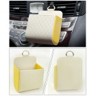 Interior Air Vent Cell Phone Holder Pouch Bag Box Storage Coin Organizer with Hook for Car