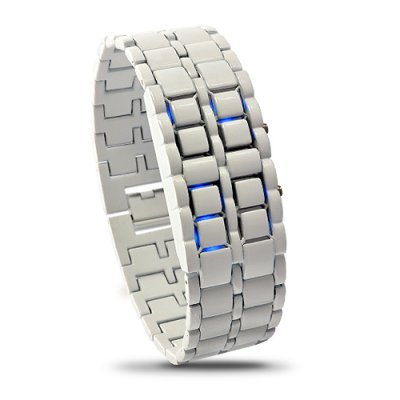 Blue LED White Watch - Iron Samurai Shiro