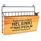 Iron Art Wall Hanging Letter Storage Basket for Gate Porch Garden Decoration 31*7.5*22.8cm_HELSINKI