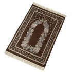 Islamic Pilgrimage Blanket Muslim Prayer Mat Lightweight Thin Carpet Islam Eid Ramadan Gift Dark brown_70cm*110cm
