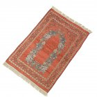 Islamic Pilgrimage Blanket Muslim Prayer Mat Lightweight Thin Carpet Islam Eid Ramadan Gift Apricot red_70cm*110cm