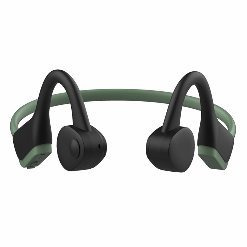 J20 Wireless Headphones Bluetooth 5.0 Waterproof Sweatproof Bone Conduction Sports Headphones dark green