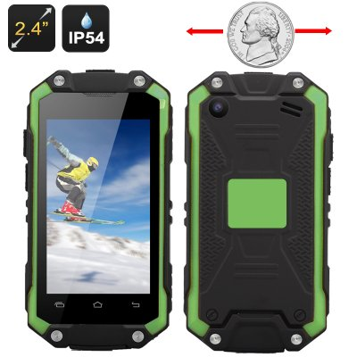 Mini IP54 Waterproof Smart Phone (Green)