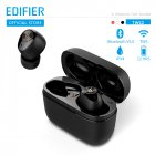 Original EDIFIER TWS2 TWS Earbuds Bluetooth V5.0 IPX4 12 Hours Play Time Multifunctional Control Wireless Earphones black