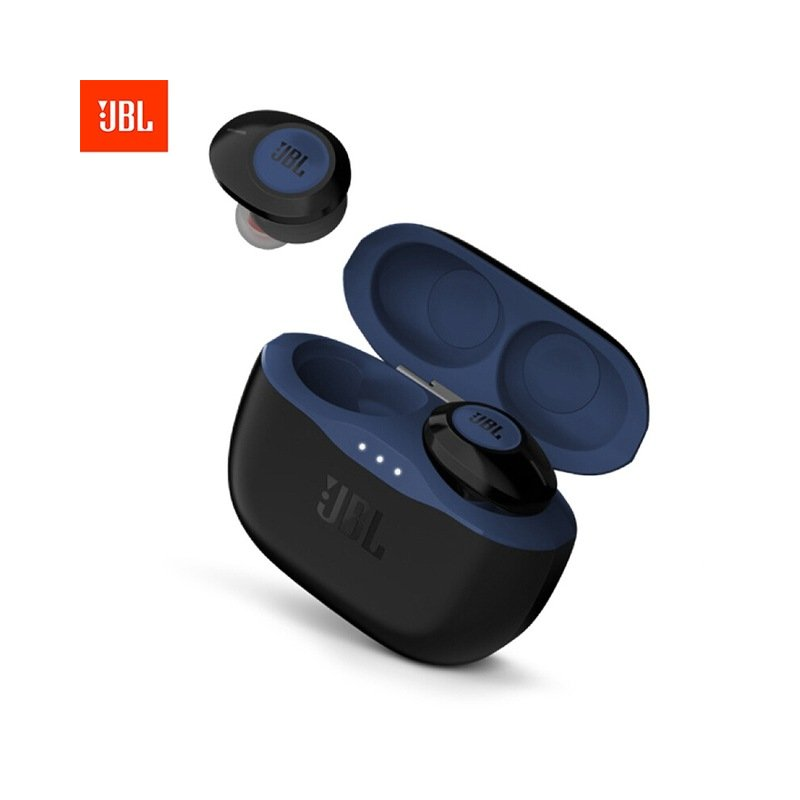 JBL T120 TWS True Wireless Bluetooth Earphones TUNE 120TWS Stereo Earbuds Bass Sound Headphones Headset with Mic Charging Case blue