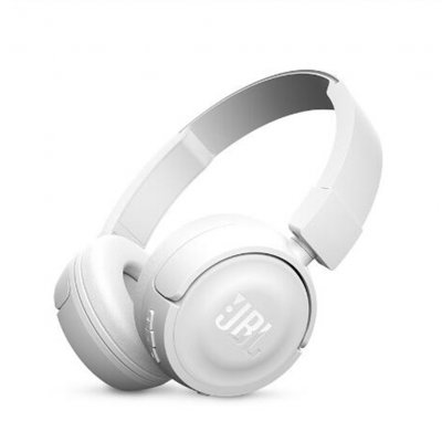 JBL T450BT Wireless Bluetooth Headphones On-Ear Headset with Mic Noise Canceling Call & Music Controls  white