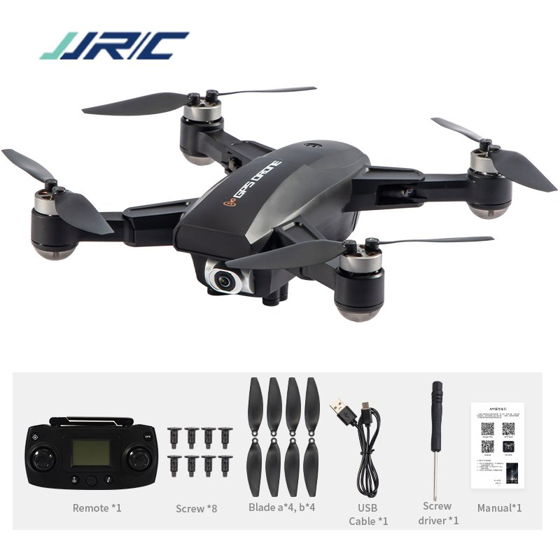 JRC X16 5G WIFI FPV GPS Foldable RC Drones with 6K HD Camera Optical Flow Positioning Brushless Motor Quadcopter M09 Black 2 battery