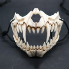 Japanese Gods Style Deluxe Resin Ninja Mask Prom Performance Art Mask Tiger mouth