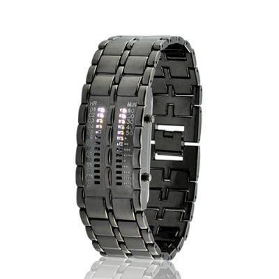 LED Watch with Metal Strap - Elite Clock