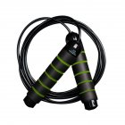 Jump Rope Heavy Load Steel Wire PVC Skipping Rope for Students Gym Fitness Training Black and green