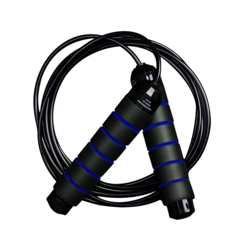 Jump Rope Heavy Load Steel Wire PVC Skipping Rope for Students Gym Fitness Training Black and blue