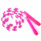 Jump Rope Plastic Beaded Segmented Training Workout Skipping Rope pink