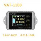 Juntek VAT1100 Wireless Voltage Current Meter 100V 100A Car Battery Monitoring 12V 24V 48V Battery Coulomb Counter VA Meter VAT-1100
