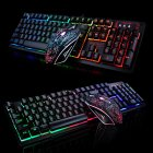 K13 Game Backlight Keyboard +Mouse Set for Laptop PC User black