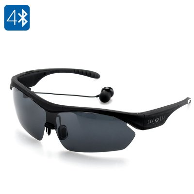 K2 Polarized Bluetooth Sunglasses (Black)