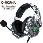 K8 Stereo Gaming Headset Over Ear Wired Headphone with Microphone LED Lights Bass Surround Compatible for PS4/XBox One/Laptop/Nintendo Switch Games  Camouflage