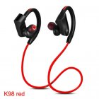 K98 Sports Waterproof Wireless Bluetooth Stereo Headphones Headset CSR Chip Red
