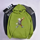 KAWS Men Women Hoodie Sweatshirt Cartoon Walking Doll Thicken Autumn Winter Loose Pullover Green_S