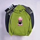 KAWS Men Women Hoodie Sweatshirt Love Bear Cartoon Thicken Autumn Winter Loose Pullover Green_M
