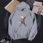 KAWS Men Women Hoodie Sweatshirt Walking Doll Cartoon Thicken Autumn Winter Loose Pullover Gray_L