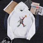 KAWS Men Women Hoodie Sweatshirt Walking Doll Cartoon Thicken Autumn Winter Loose Pullover White_L