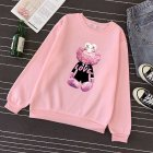 KAWS Men Women Hoodie Sweatshirt Cartoon Love Doll Thicken Autumn Winter Loose Pullover Pink_L