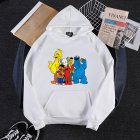 KAWS Men Women Hoodie Sweatshirt Cartoon Animals Thicken Loose Autumn Winter Pullover White_L