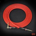 KGR 19AWG Guitar Line Guitar Cable Guitar Connection Audio Line Noise Reduction Straight elbow_6 meters