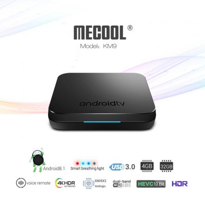 KM9 Android 8.1 Amlogic S905X2 Quad Core TV B