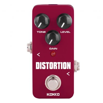 KOKKO FDS2 Mini Distortion Pedal Portable Guitar Effect Pedal FDS-2 wine red