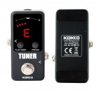 KOKKO Mini Pedal Tuner Guitarra Guitar Bass Violin Ukelele Stringed Instruments Tuner Effect Device  FTN-2 black