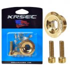 KRSE Crankset Screw M18/M20 Aluminum Alloy Hollow Bike Chain Wheel Right Crank Cap Cover Bicycle Crank Arm Parts M20 gold crank screw_Crank screw