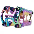 KRSEC 31 8 50mm Mountain Bike Cycling Hollow Aluminium Alloy Handlebar Stem CNC Bicycle Stem Bike Accessories 50MM colorful handle 50MM