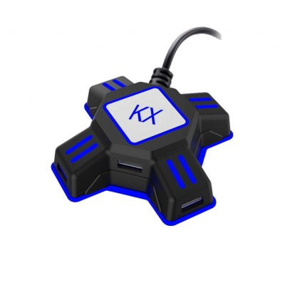 KX USB Game Controller Converter Keyboard Mouse Adapter for  Switch/Xbox/PS4/PS3 black