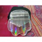 Kalimba Acrylic 17 Key Transparent Thumb Piano with Tuner Hammer Gig Kalimba Transparent