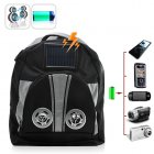Keep your electronic devices charged on the go with this Solar Battery Charger Backpack from Chinavasion  With Speakers