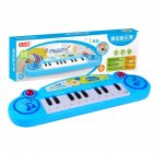 Keyboard Toy Children's Puzzle Enlightenment Mini 12 Button Electric Piano Instrument Toy Blue