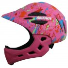 Kid Helmet Mountain Mtb Road Bicycle Detachable Protection Children Full Face Bike Cycling Helmet  Graffiti pink_One size