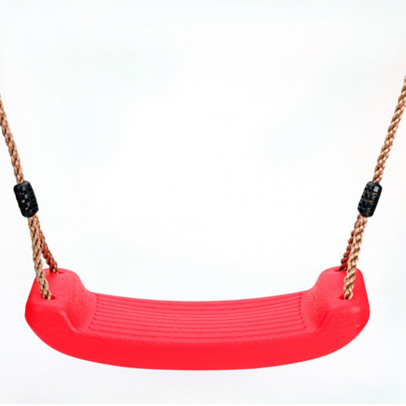 Kid Indoor Outdoor Play Game Toy Swing Seat Set Plastic Hard Bending Plate Chair and Rope