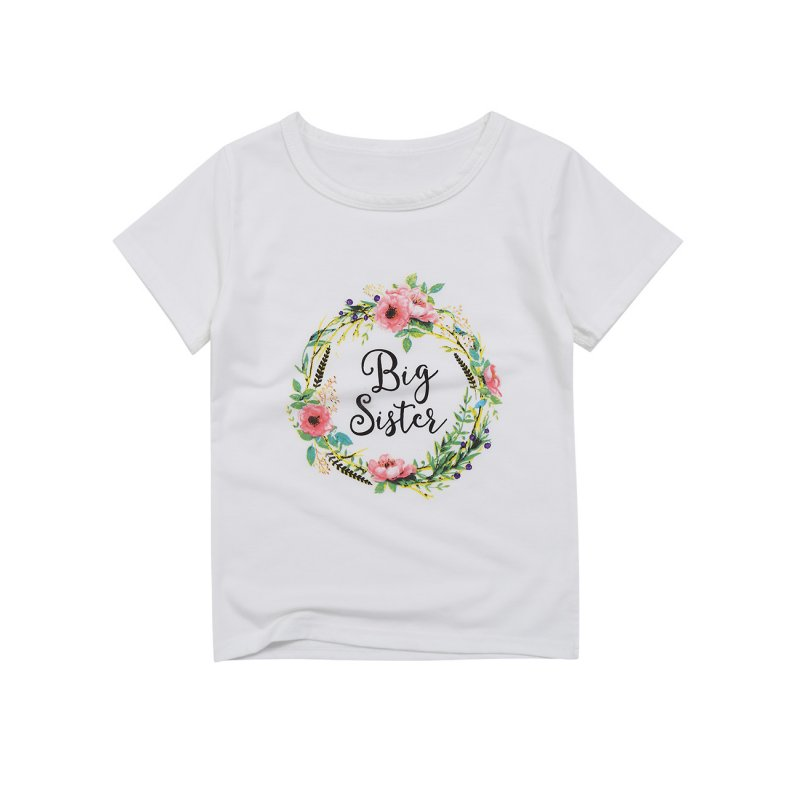 Kidlove Baby Girls' Flower Printed Short Sleeve Rompers Lovely Bodysuit White