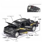 Kids 1:32 Alloy Car Modeling Light Sound Toy Decoration Matte black