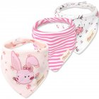 Kids Baby Bibs Burp Cloth - 17 Pink rabbit