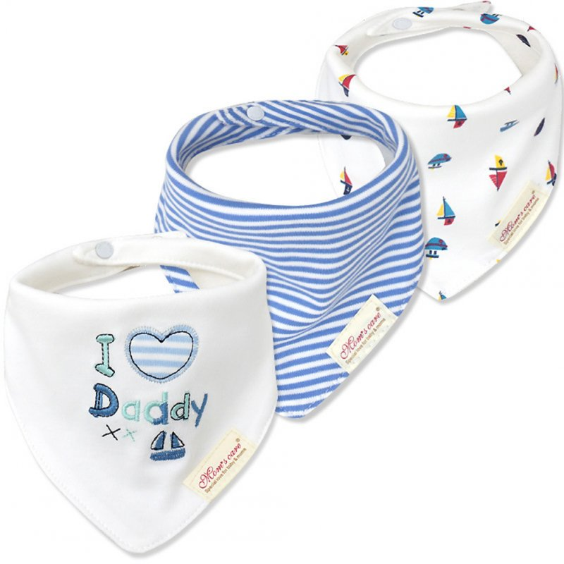 Soft Cotton Triangle Baby Bibs 3Pcs