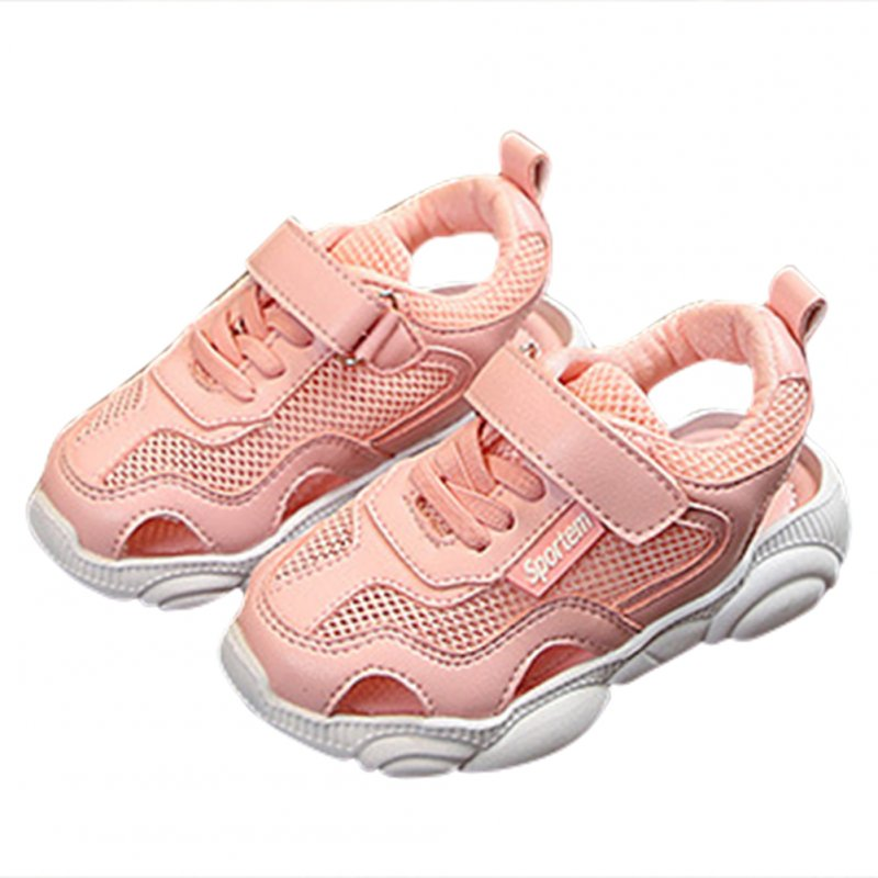 Kids Baby Infant Girls Boys Summer Casual Breathable Mesh Magic Sticker Sandals Sports Shoes
