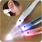 Kids Cartoon Luminous Ear Wax Cleaner Flashlight Ear-pick Earwax Remover Cleaning Ear Care Tool  Mixed color random