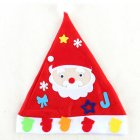 Kids DIY Christmas Hat Children s Handmade Material Accessories Set Toy Christmas Gift Christmas hat   old man