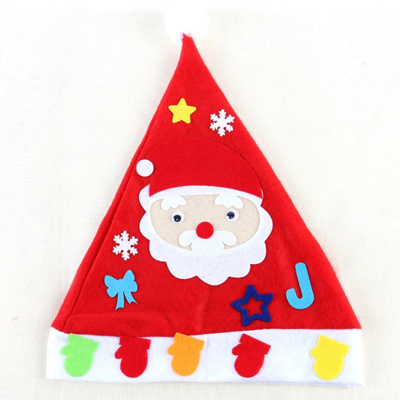 Kids DIY Christmas Hat Children's Handmade Material Accessories Set Toy Christmas Gift Christmas hat - old man
