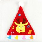 Kids DIY Christmas Hat Children's Handmade Material Accessories Set Toy Christmas Gift Christmas hat - elk