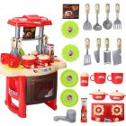 Kids Girls Cooking Kitchen Play Set